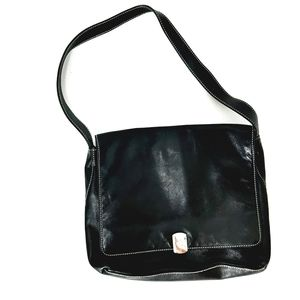 Lauren Ralph Lauren black leather shoulder bag